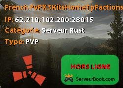 [French] PvP|X3|Kits|Home|Tp|Factions|Loot++