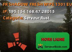 [FR] SHADOW - FRESH WIPE 13/01 [EU]