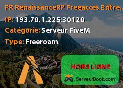 [FR] RenaissanceRP [Free-acces] EntrepriseIllegal14Jobs+Admin[ON](discord.gg/mxR48JB)