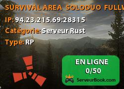 SURVIVAL AREA � SOLO/DUO � FULLWIPED 27.11 - 17:00 CET (2hr